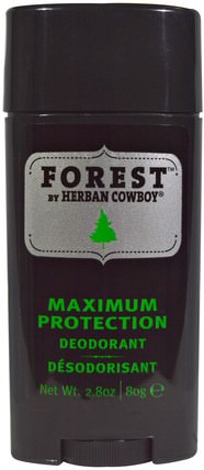 Forest, Maximum Protection Deodorant, 2.8 oz (80 g) by Herban Cowboy, 洗澡,美容,除臭劑 HK 香港