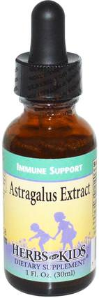 Astragalus Extract, 1 fl oz (30 ml) by Herbs for Kids, 健康,感冒和病毒,黃芪液,免疫系統 HK 香港