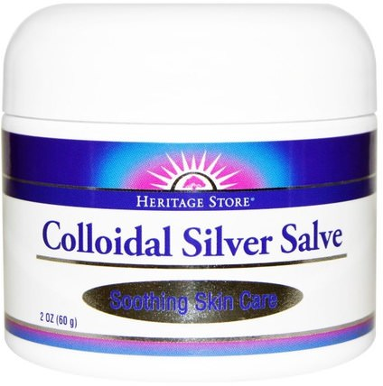 Colloidal Silver Salve, 2 oz (60 g) by Heritage Stores, 補品,礦物質,液體礦物質,膠體銀 HK 香港