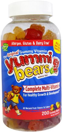 Yummi Bears, Complete Multi-Vitamin, All Natural Fruit Flavors & Colors, 200 Gummy Bears by Hero Nutritional Products, 維生素,多種維生素,兒童多種維生素,多種維生素 HK 香港
