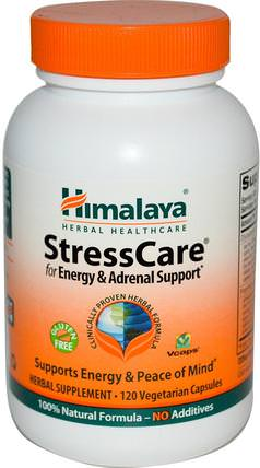 StressCare, 120 Vegetarian Capsules by Himalaya Herbal Healthcare, 補品,腎上腺,能量 HK 香港