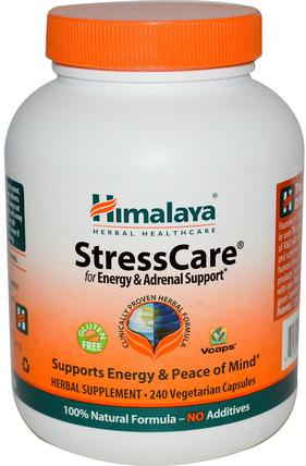 StressCare, 240 Vegetarian Capsules by Himalaya Herbal Healthcare, 補充劑,腎上腺,抗衰老 HK 香港