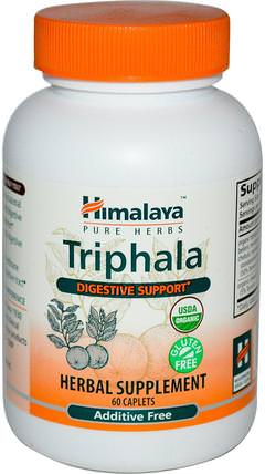 Triphala, 60 Caplets by Himalaya Herbal Healthcare, 健康,排毒,三叉戟,便秘 HK 香港