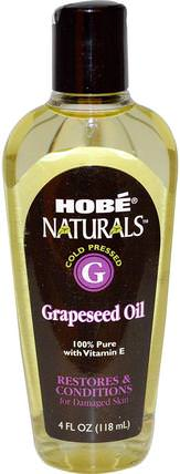 Naturals, Grapeseed Oil, 4 fl oz (118 ml) by Hobe Labs, 健康,皮膚,葡萄籽油,按摩油 HK 香港
