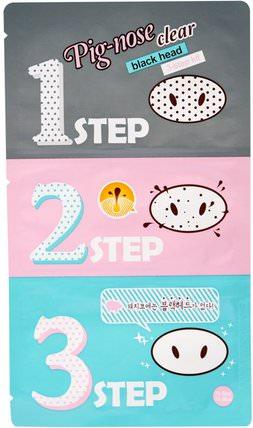 Pig-Nose Clear Blackhead, 3 Step Kit, 1 Treatment by Holika Holika, 洗澡,美女 HK 香港