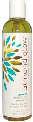 Home Health, Almond Glow, Body Lotion, Jasmine, 8 fl oz (236 ml) 健康,皮膚,按摩油