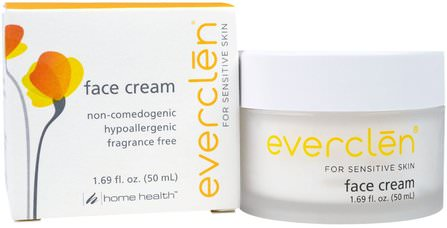 Everclen, Face Cream, 1.69 fl oz (50 ml) by Home Health, 美容,面部護理,面霜乳液,精華素,皮膚型酒渣鼻,敏感肌膚 HK 香港