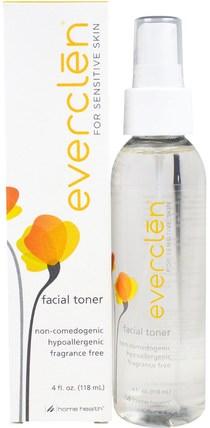 Home Health, Everclen, Facial Toner, 4 fl oz (118 ml) 美容,面部調色劑