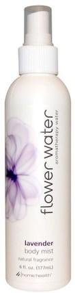Flower Water, Body Mist, Lavender, 6 fl oz (177 ml) by Home Health, 洗澡,美容,香水噴霧 HK 香港