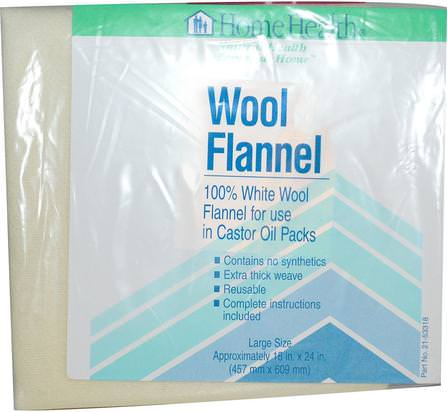 Wool Flannel, Large, 1 Flannel by Home Health, 健康,皮膚,蓖麻油,羊毛法蘭絨蓖麻油 HK 香港