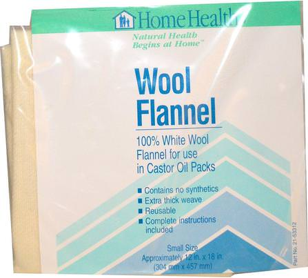 Wool Flannel, Small, 1 Flannel by Home Health, 健康,皮膚,蓖麻油,羊毛法蘭絨蓖麻油 HK 香港