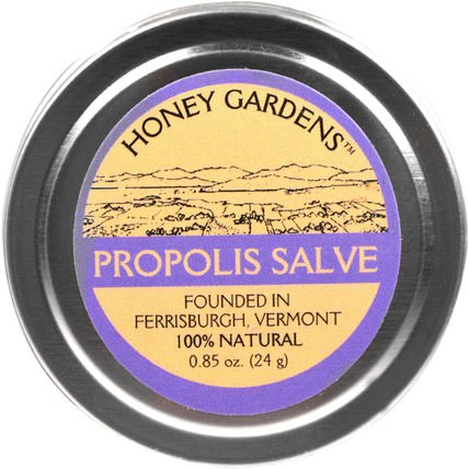 Propolis Salve, 0.85 fl oz (24 g) by Honey Gardens, 補充劑,蜂產品,蜂膠 HK 香港