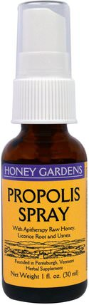 Propolis Spray, 1 fl oz (30 ml) by Honey Gardens, 補充劑,蜂產品,蜂膠 HK 香港