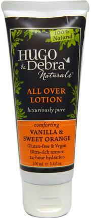 All Over Lotion, Vanilla and Sweet Orange, 3.4 fl oz (100 ml) by Hugo Naturals, 洗澡,美容,潤膚露 HK 香港