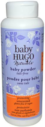 Baby Powder, Unscented, 3 oz (85 g) by Hugo Naturals, 兒童健康,尿布,嬰兒爽身粉油 HK 香港
