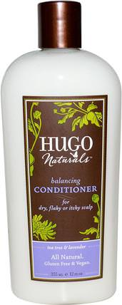 Balancing Conditioner, Tea Tree & Lavender, 12 fl oz (355 ml) by Hugo Naturals, 洗澡,美容,頭髮,頭皮,洗髮水,護髮素,護髮素 HK 香港
