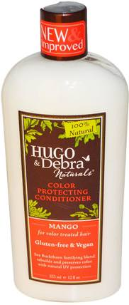 Color Protecting Conditioner, Mango, 12 fl oz (355 ml) by Hugo Naturals, 洗澡,美容,頭髮,頭皮,洗髮水,護髮素,護髮素 HK 香港