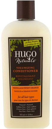 Volumizing Conditioner, Vanilla & Sweet Orange, 12 fl oz (355 ml) by Hugo Naturals, 洗澡,美容,頭髮,頭皮,洗髮水,護髮素,護髮素 HK 香港
