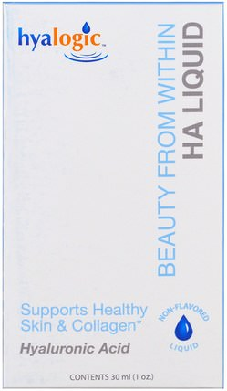 HA Liquid, 1 oz (30 ml) by Hyalogic Beauty From Within, 健康,女性,抗衰老 HK 香港