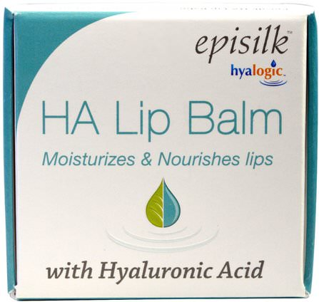 HA Lip Balm with Hyaluronic Acid, 1/2 fl oz (14 g) by Hyalogic Episilk, 美容,透明質酸皮膚,面部護理,皮膚類型抗衰老皮膚 HK 香港