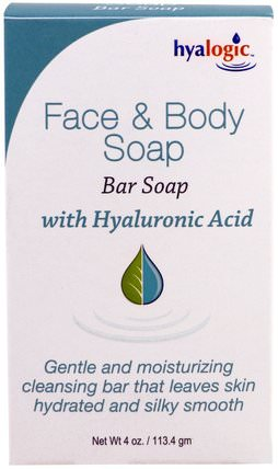 With Hyaluronic Acid, 4 oz (113.4 g) by Hyalogic Face & Body Soap, 健康,女性,皮膚,美容,痤瘡外用產品 HK 香港