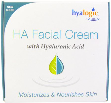 2 fl oz (56.7 g) by Hyalogic HA Facial Cream with Hyaluronic Acid, 美容,面部護理,面霜,乳液,抗皺霜,透明質酸皮膚 HK 香港