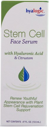 by Hyalogic Stem Cell Face Serum with Hyaluronic Acid & Citrustem.47 fl oz (13.5 ml), 美容,健康,皮膚 HK 香港