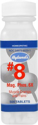 #8 Mag. Phos. 6X, 500 Tablets by Hylands, 健康,抗疼 HK 香港