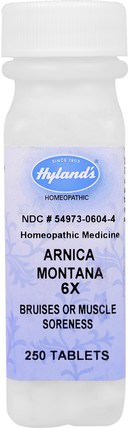 Arnica Montana 6X, Bruises & Muscle Soreness, 250 Tablets by Hylands, 草藥,山金車蒙大拿 HK 香港
