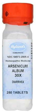 Arsenicum Album 30X, 250 Tablets by Hylands, 健康,腹瀉 HK 香港