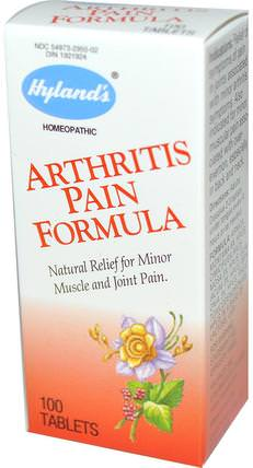 Arthritis Pain Formula, 100 Tablets by Hylands, 健康,關節炎,抗疼痛 HK 香港
