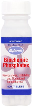 Biochemic Phosphates, 500 Tablets by Hylands, 補品,順勢療法,抗壓情緒支持 HK 香港