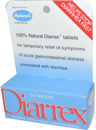 Diarrex, 50 Tablets by Hylands, 健康,腹瀉 HK 香港