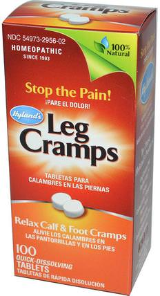 Leg Cramps, 100 Tablets by Hylands, 健康,抗疼 HK 香港