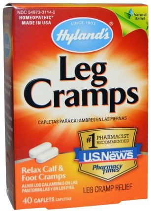 Leg Cramps, 40 Caplets by Hylands, 健康,抗疼 HK 香港