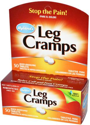 Leg Cramps, 50 Tablets by Hylands, 健康,抗疼 HK 香港