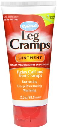 Leg Cramps Ointment, 2.5 oz (70.9 g) by Hylands, 健康,抗疼 HK 香港