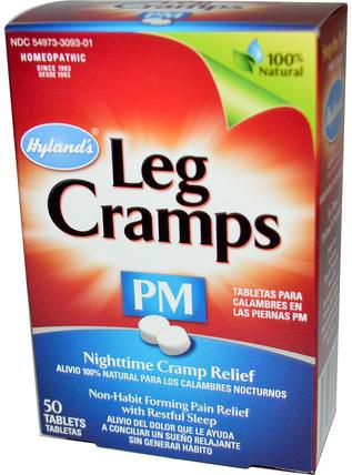 Leg Cramps PM, 50 Tablets by Hylands, 健康,抗疼 HK 香港