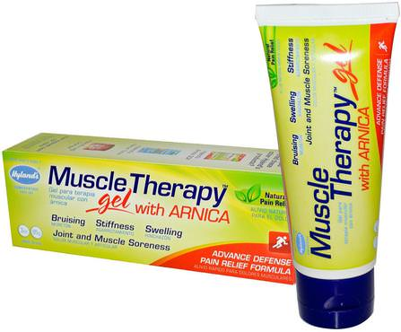 Muscle Therapy, Gel, with Arnica, 3 oz (85 g) by Hylands, 健康,抗疼痛,順勢療法緩解疼痛 HK 香港