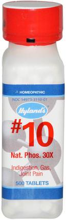 #10, Nat. Phos. 30X, 500 Tablets by Hylands, 補品,順勢療法,健康 HK 香港