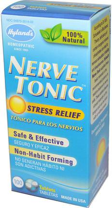 Nerve Tonic, Stress Relief, 100 Tablets by Hylands, 補品,順勢療法,健康,抗壓力 HK 香港