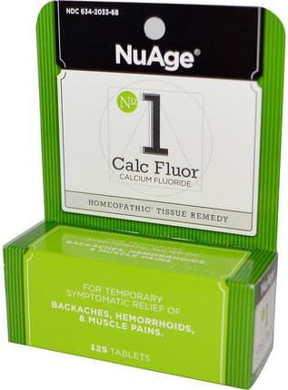 NuAge, No 1 Calc Fluor (Calcium Fluoride), 125 Tablets by Hylands, 健康,背痛,痔瘡,痔瘡產品 HK 香港