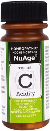 Hylands, NuAge, Tissue C Acidity, 125 Tablets 健康