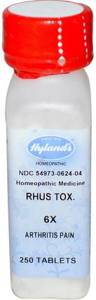 Rhus Tox. 6X, 250 Tablets by Hylands, 健康,關節炎,抗疼痛 HK 香港