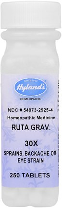 Ruta Grav. 30X, 250 Tablets by Hylands, 健康,抗疼 HK 香港