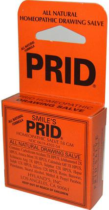 Smiles Prid Homeopathic Drawing Salve, 18 g by Hylands, 健康,抗疼,傷害燒傷 HK 香港