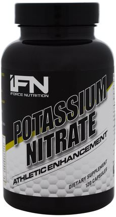 Potassium Nitrate, 120 Capsules by iForce Nutrition, 補充劑,礦物質,鉀 HK 香港