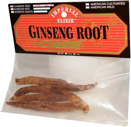 Ginseng Root, Chinese Red Shiu Chu Xu, 1 oz by Imperial Elixir, 補充劑,adaptogen HK 香港