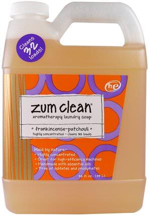 Zum Clean, Aromatherapy Laundry Soap, Frankincense & Patchouli, 32 fl oz by Indigo Wild, 家裡,洗衣粉 HK 香港