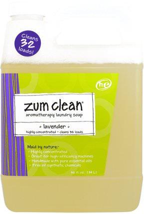 Zum Clean, Aromatherapy Laundry Soap, Lavender, 32 fl oz (.94 L) by Indigo Wild, 家庭,洗衣粉,兒童健康,嬰兒洗衣粉 HK 香港